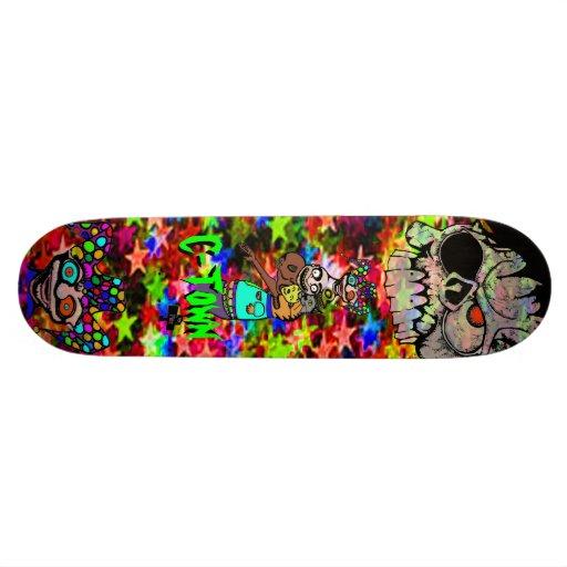 C-Town 901 Pine Skull  Jester  D'voured Starz Skate Decks