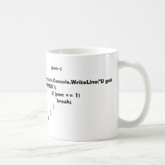 C# u consiguió pwned tazas de café