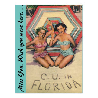 C. U. in FLORIDA Postcard
