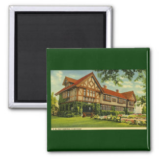 C.W. Post Clubhouse Battle Creek, Michigan 2 Inch Square Magnet