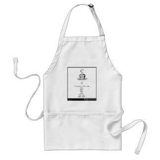 C was once a little cake adult apron
