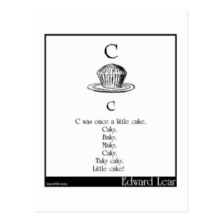 C was once a little cake postcard