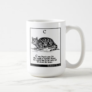 C was Papa's gray Cat Coffee Mug