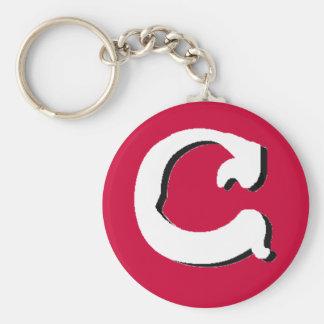 C (White) Keychain
