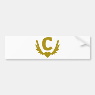 C-Winged-Heart.png Bumper Sticker