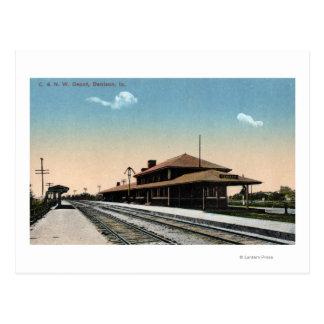 C y depósito del ferrocarril del nanovatio postales