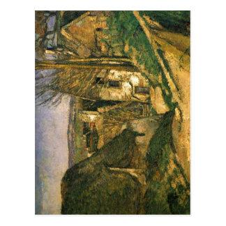 C?zanne, Paul Das Haus des Gehenkten bei Auvers um Postcard