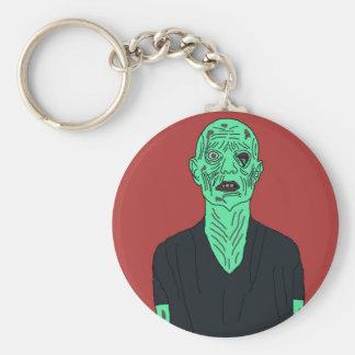 C Zombie.jpg Basic Round Button Keychain