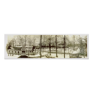 Ca. 1900 Highland Short Hills NJ Panorama Poster