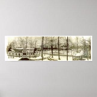 Ca. 1900 Highland Short Hills NJ Panorama Print