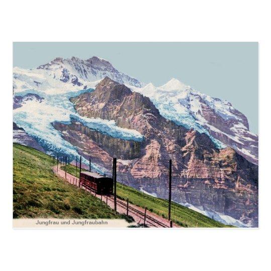 ca 1900 Jungfrau Mountain Railroad Postcard