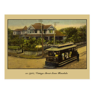 ca 1900 vintage street scene Honolulu Postcard