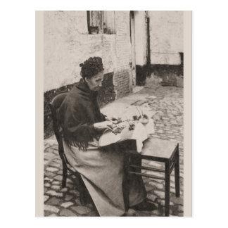 ca 1910 Bruges Lacemaker Postcard