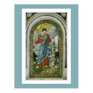 ca 1910, Minerva Mosaic at the Library of Congress Postcard