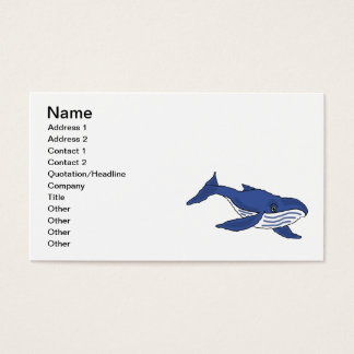 CA- Awesome Blue Whale Business Cards