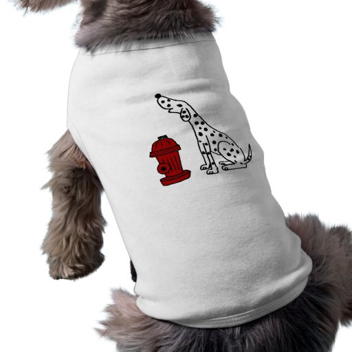 CA- Awesome Dalmatian Dog and Fire Hydrant Pet Tee
