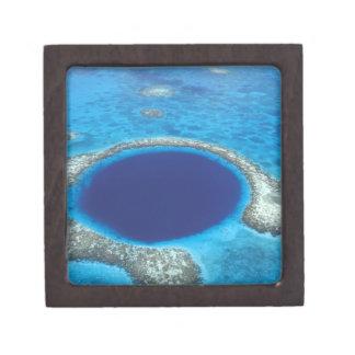 CA, Belice. Vista aérea del agujero azul (diámetro Cajas De Recuerdo De Calidad