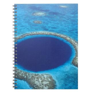 CA, Belice. Vista aérea del agujero azul (diámetro Libro De Apuntes Con Espiral
