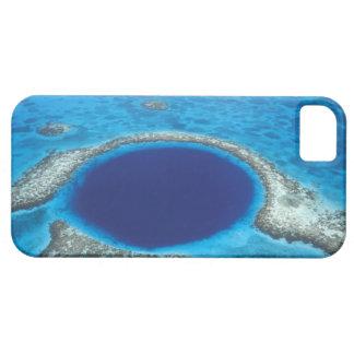CA, Belize. Aerial view of Blue Hole (diameter iPhone SE/5/5s Case