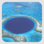 CA, Belize. Aerial view of Blue Hole (diameter Stickers