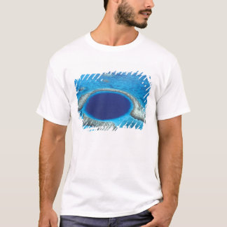 CA, Belize. Aerial view of Blue Hole (diameter T-Shirt