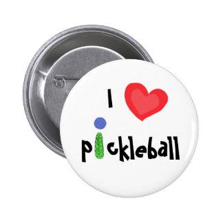 CA botón de Pickleball del amor de I Pin Redondo De 2 Pulgadas