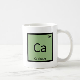 Ca - Cabbage Vegetable Chemistry Periodic Table Coffee Mug