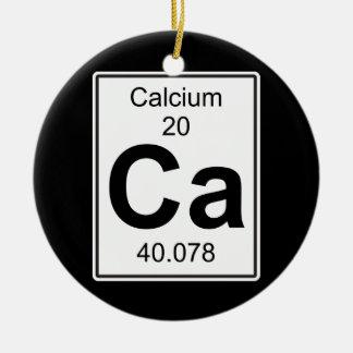 Ca - Calcium Ceramic Ornament