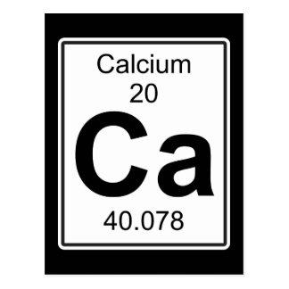 Ca - Calcium Postcard