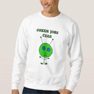 CA camisa verde del zar de los trabajos