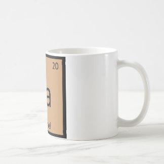 Ca - Caramel Chemistry Periodic Table Symbol Mug