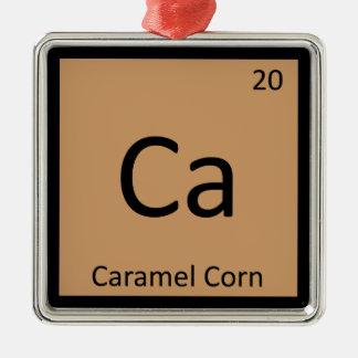 Ca - Caramel Corn Chemistry Periodic Table Symbol Christmas Tree Ornaments