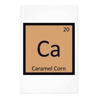 Ca - Caramel Corn Chemistry Periodic Table Symbol Personalized Stationery