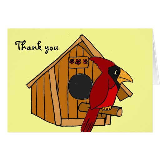 Ca cardinal and house thank you cards zazzle - Building a home according to cardinal directions ...