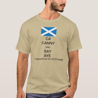 Ca cauto y dice Aye a la independencia escocesa 2 Playera