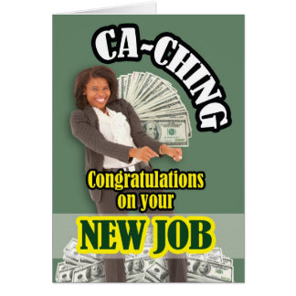 CA-Ching Tarjeta De Felicitación