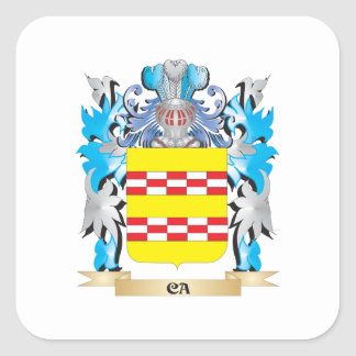 Ca Coat of Arms - Family Crest Square Sticker