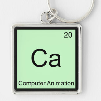 Ca - Computer Animation Funny Chemistry Element T Key Chains