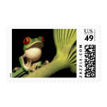 CA, Costa Rica, Red-eyed tree frog (Agalychnis Postage