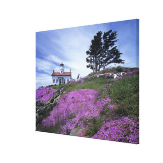 CA, Crescent City, Battery Point lighthouse with Canvas Print