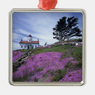 CA, Crescent City, Battery Point lighthouse with Metal Ornament