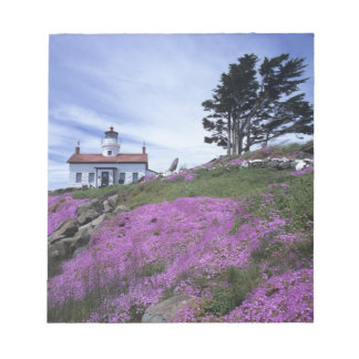 CA, Crescent City, Battery Point lighthouse with Notepad