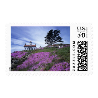 CA, Crescent City, Battery Point lighthouse with Postage