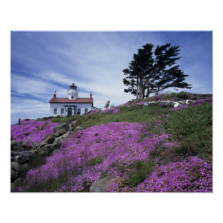CA, Crescent City, Battery Point lighthouse with Poster