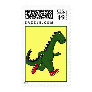 CA- Dinosaur Jogging Postage Stamps
