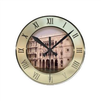 Ca' D'Oro Palace, Venice, Italy Round Clock
