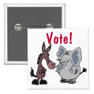 CA- Elephant and Donkey Vote Button