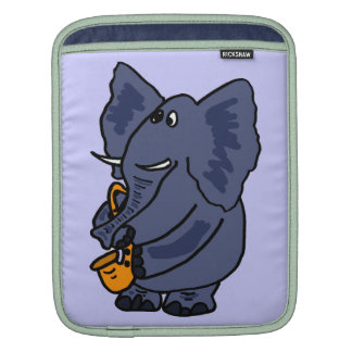 CA- Elephant Playing Saxophone ipad Sleeve