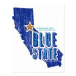 CA - estado azul orgulloso Postales