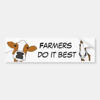 CA-  Farmers do it Best Bumper Sticker